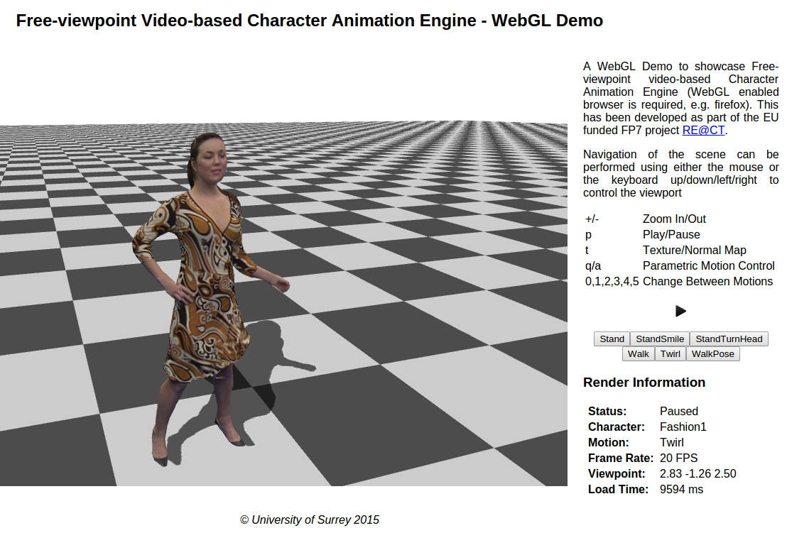 Hybrid Skeletal-Surface Motion Graphs for Character Animation from